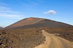 Volcano in timanfaya national park Stock Photos