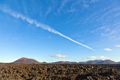 Volcano in timanfaya national park Royalty Free Stock Images