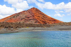 Volcano in timanfaya national park in Lanzarote Royalty Free Stock Image