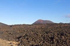 Volcano in timanfaya national park in Lanzarote Stock Image