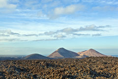 Volcano in timanfaya national park in Lanzarote Royalty Free Stock Photography