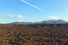 Volcano in timanfaya national park in Lanzarote Stock Photo