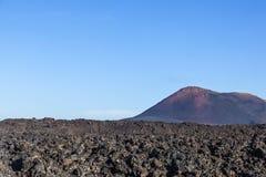 Volcano in timanfaya national park in Lanzarote Royalty Free Stock Photo
