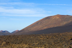 Volcano in timanfaya national park in Lanzarote Royalty Free Stock Photo