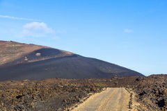 Volcano in timanfaya national park in Lanzarote Stock Photography