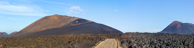 Volcano in timanfaya national park in Lanzarote Royalty Free Stock Photos