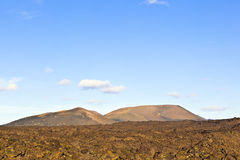 Volcano in timanfaya national park in Lanzarote, Spain Royalty Free Stock Photography