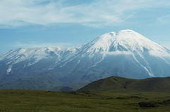 Volcano Tolbachik on Kamchatka Royalty Free Stock Photo