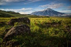 Volcano Tolbachik, Kamchatka immagine stock libera da diritti