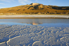 Volcano Tunupa, Salar de Uyuni, Altiplano, Bolivia Royalty Free Stock Photos