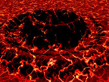 Volcano Two. Illustrated 3D Volcano close up Royalty Free Stock Image