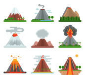 Volcano vector illustration. Stock Photo