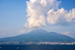Volcano Vesuvius. From view Sorrento peninsula, Italy stock photography