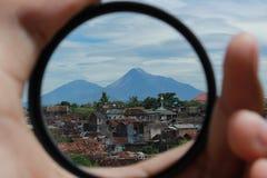 Volcano. View the landscape of Merapi Volcano, central java Stock Photo