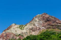 Volcano. View of Mt.Showa Shinzan, The great alive volcano in Hokkaido Japan Royalty Free Stock Image