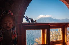 Free Volcano View Out Of The Window At Lake Atitlan, Guatemala Royalty Free Stock Images - 97940549