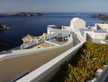 Hotel Volcano View Santorini Stock Photography