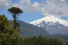 Volcano Villarica Arkivfoton
