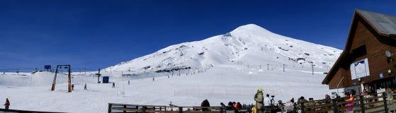 Volcano Villarrica no Chile fotografia de stock royalty free