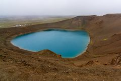 Volcano Viti Crater in North Iceland royalty free stock images