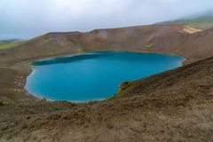 Volcano Viti Crater in North Iceland royalty free stock photo