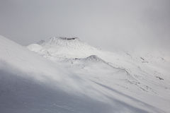 Volcano. Winter Mount Etna share in 2000 royalty free stock photography