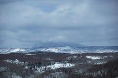 Volcano Winter Scene, Japón Fotografía de archivo