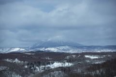 Volcano Winter Scene, Japan Stock Photography
