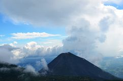 Volcano Yzalco and clouds, El Salvador Royalty Free Stock Images
