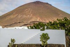Volcanoe landscape in Lanzarote. Canary Islands, Spain Stock Photography