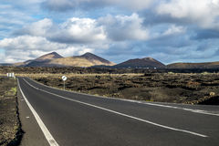Volcanoe landscape in Lanzarote. Canary Islands, Spain Royalty Free Stock Images