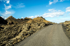 Volcanoe landscape in Lanzarote. Canary Islands, Spain Stock Photos