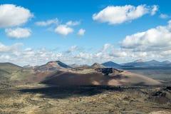 Volcanoe landscape in Lanzarote. Canary Islands, Spain Stock Image