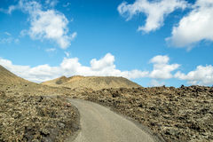 Volcanoe landscape in Lanzarote. Canary Islands, Spain Royalty Free Stock Photos