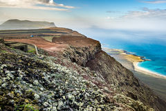 Volcanoe landscape in Lanzarote. Canary Islands, Spain Royalty Free Stock Photography