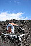 Volcanoe memorial chapel. Memorial chapel standing for the last eruption of a volcano on a canarian island Stock Images