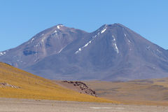 Volcanoes in the Atacama Desert, Chile Royalty Free Stock Images