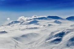 Volcanoes av den Kamchatka halvön, Ryssland. Royaltyfria Bilder