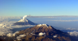 Volcanoes. A beautiful landscape of volcanos in Mexico Royalty Free Stock Images