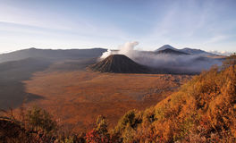 Volcanoes of Bromo National Park Royalty Free Stock Photography