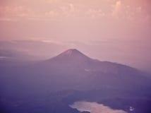 Semeru volcano. Volcanoes in Bromo Tengger Semeru National Park at sunset. Java, Indonesia Royalty Free Stock Photos