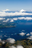 Volcanoes in Chile Osorno and Puyehue Stock Photography
