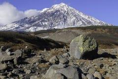 Volcanoes in the Kamchatka Peninsula Royalty Free Stock Photography