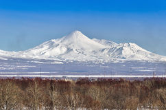 Volcanoes of Kamchatka Peninsula, Russia. Royalty Free Stock Photography