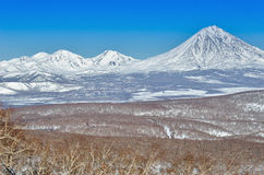 Volcanoes of Kamchatka Peninsula, Russia. Royalty Free Stock Photos