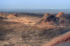 Volcanoes land, Lanzarote, Spain Royalty Free Stock Photo