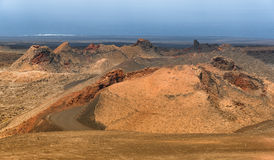 Volcanoes landscape, Lanzarote, Spain Royalty Free Stock Photos