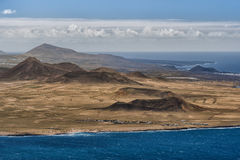 Volcanoes, Lanzarote, Spain Stock Images