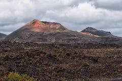 Volcanoes, Lanzarote, Spain stock image