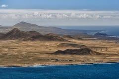 Volcanoes Lanzarote, Spanien Arkivbilder